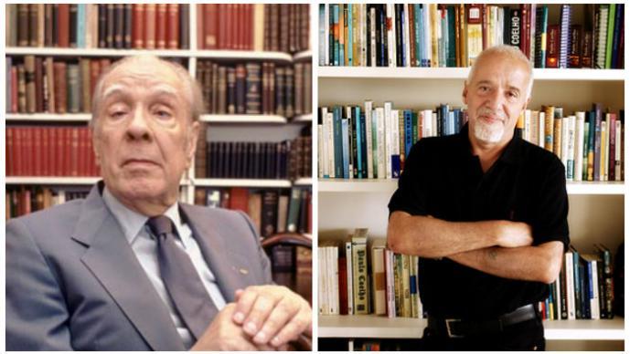 Jorge Luis Borges y Paulo Coelho