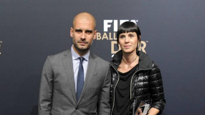 Pep Guardiola, y Critina Serra
