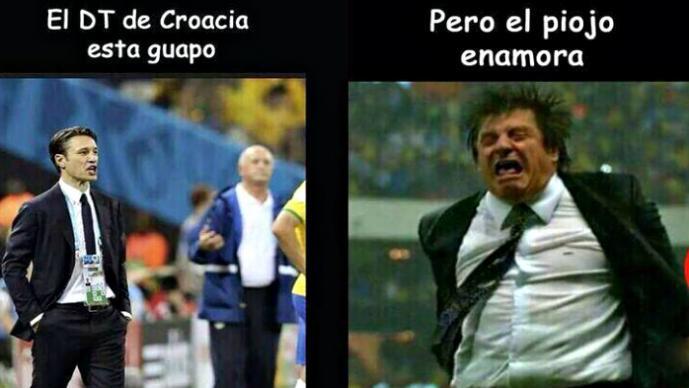 "Así festejó el ""Piojo"" Herrera los goles ante Croacia"