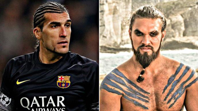 Jugadores del Barcelona y el Atlético que se parecen a personajes de televisión