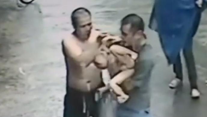 rescate de un niño