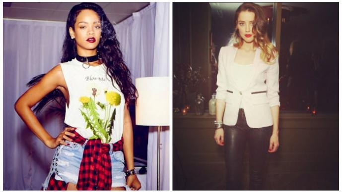 Rihanna y Amber Heard
