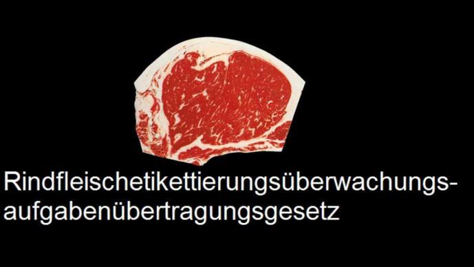 Rindfleischetikettierungsüberwachungsaufgabenübertragungsgesetz