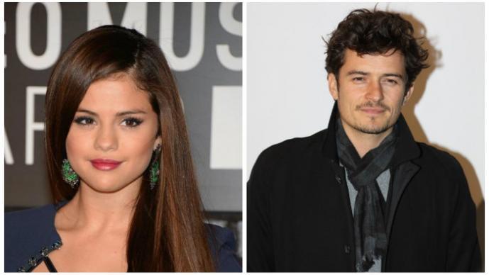 Selena Gomez y Orlando bloom