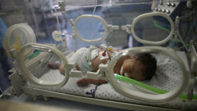 Bebé protagoniza milagro en Gaza