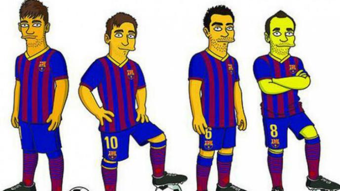 Estrellas del Barcelona debutarán en los Simpsons