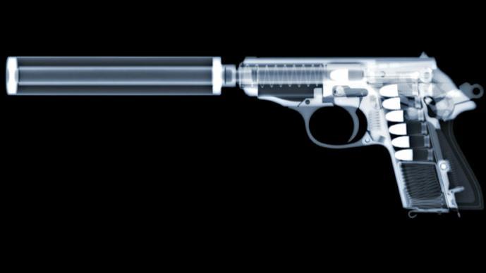 Armas de cine a través de Rayos X