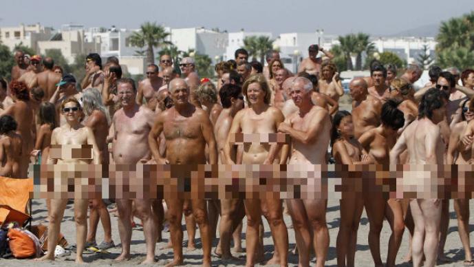 Playa Vera, nudistas