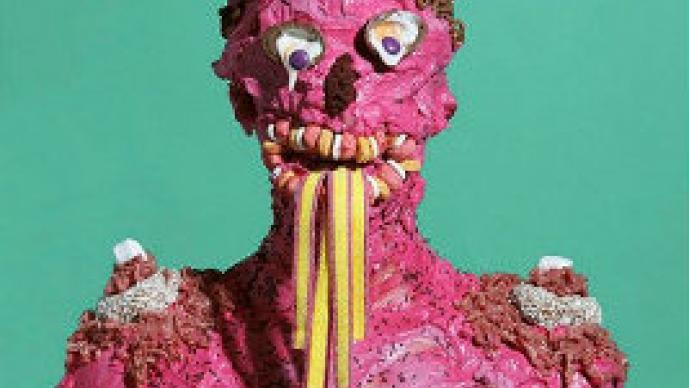 Retratos de humanos cubiertos de comida chatarra