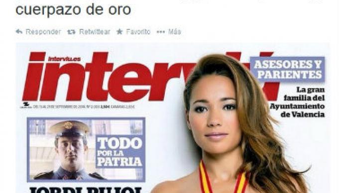 Atleta española se desnuda para recaudar dinero