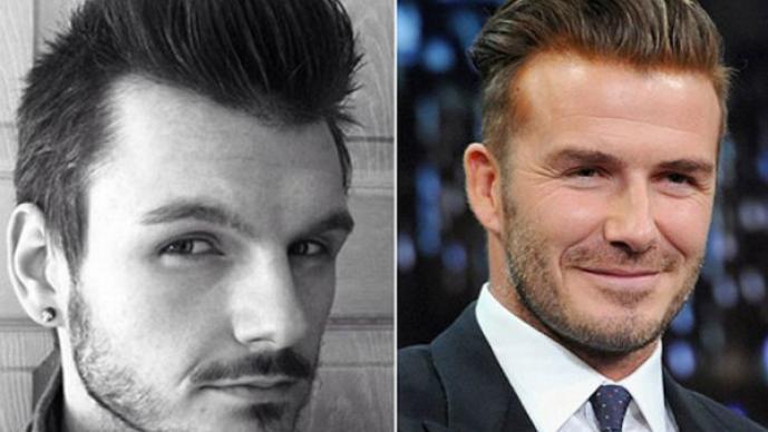 Nathan Hewitt y David Beckham