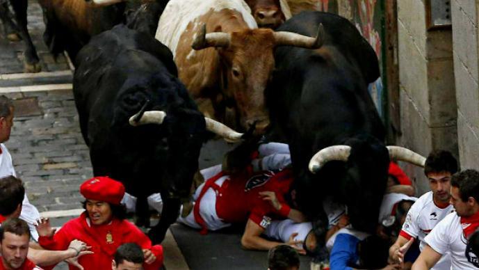 Pánico en el último día de San Fermín