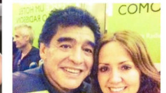 Diego Armando Maradona, Andrea Legarreta, Televisa, Facundo, Compayito, Adrián Uribe, mundial, Brasil, 2014, Duilio Davino