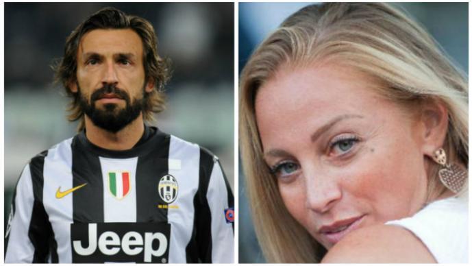 Andrea Pirlo y Valentina Baldini