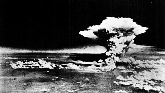 Los estragos de la bomba atómica en Hiroshima.