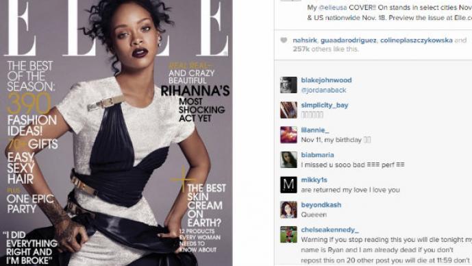 """Rihanna hace """"topless"""" para famosa revista"""