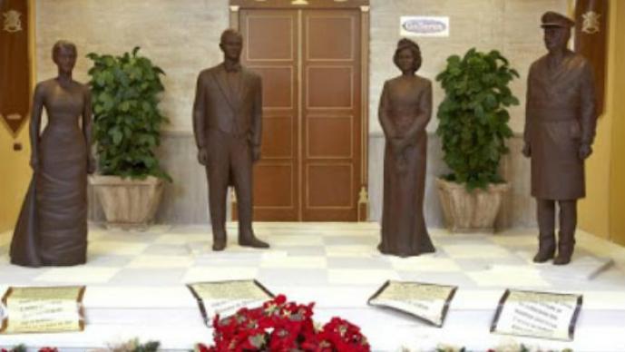Sorprendentes estatuas hechas de chocolate