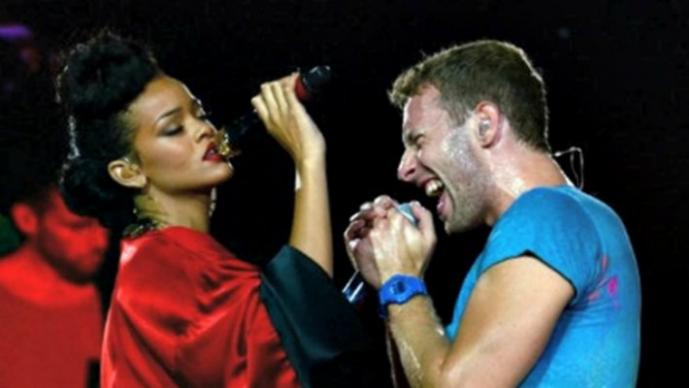 Rihanna y Chris Martin