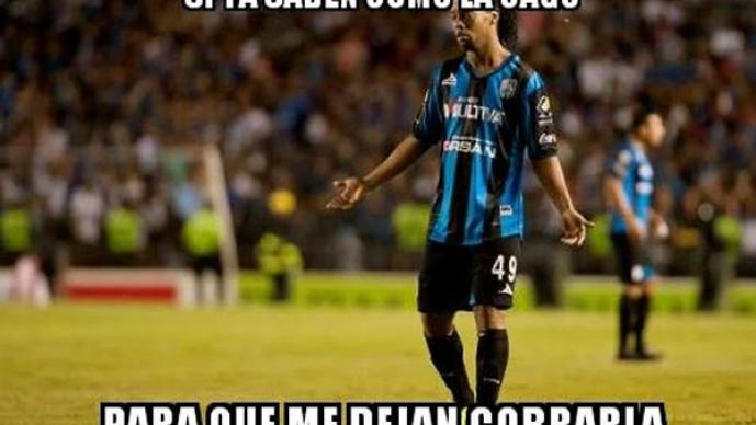 Destrozan debut de Ronaldinho con memes