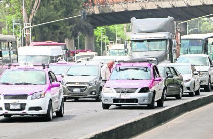 Claudia Sheinbaum taxistas apps de transporte