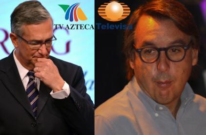 Ricardo Salinas y Emilio Azcárraga  >>> Fotos: Photoamc