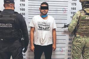 Autoridades de Morelos atoran a El Chinelo, operador de la banda delictiva Los Colombianos