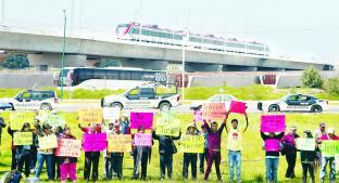 Comuneros denuncian amenazas para suspender Tren Interurbano, en Toluca. Noticias en tiempo real