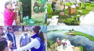 Crean centro de acopio para los afectados por el Río Lerma, en San Mateo Atenco. Noticias en tiempo real