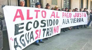Ejidatarios exigirán indemnización a AMLO por obras del Tren Interurbano, en Toluca. Noticias en tiempo real