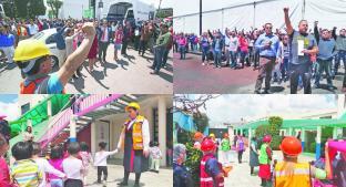 Se vieron lentos en evacuación por simulacro del 19-S, en Toluca. Noticias en tiempo real