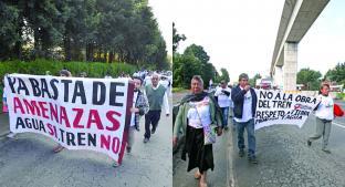 Habitantes de Coapanoaya exigen parar ecocidio por Tren Interurbano. Noticias en tiempo real