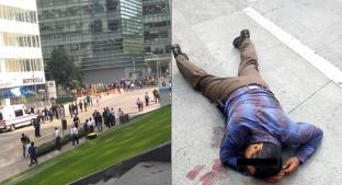 Asaltante recibe dos balazos en intento de robo en inmediaciones de Plaza Carso. Noticias en tiempo real