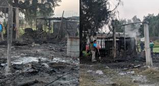 Dos explosiones arrasan con bodega de La Saucera, en Tultepec. Noticias en tiempo real