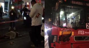 VIDEO: Metrobús atropella y mata a mujer en la alcaldía Benito Juárez. Noticias en tiempo real