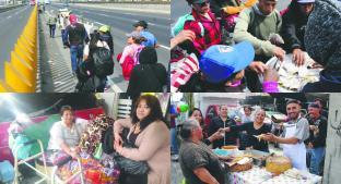 La familia que alimenta a los peregrinos que pasan por la autopista México-Puebla. Noticias en tiempo real