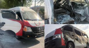 Caen dos asaltantes que quemaron una camioneta de pasajeros, en Edomex. Noticias en tiempo real