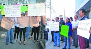 Empleados del ISSSTE protestan por despidos, en distintos puntos del país . Noticias en tiempo real