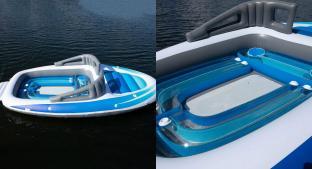 Llega el 'yate para pobres', el barco inflable que está a la venta en Amazon. Noticias en tiempo real