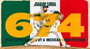 Joakim Soria ya es el pítcher mexicano con más apariciones en las Grandes Ligas. Noticias en tiempo real
