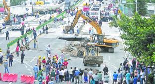 A dos años de socavón en Paso Exprés Morelos, hallan nuevas filtraciones y fallas. Noticias en tiempo real