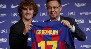 Griezmann es presentado en el Barcelona. Noticias en tiempo real