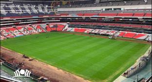 La cancha del Estadio Azteca ya está lista. Noticias en tiempo real