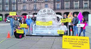 Manifestantes de Toluca exigen mejoras en transporte público, por mala calidad del aire . Noticias en tiempo real