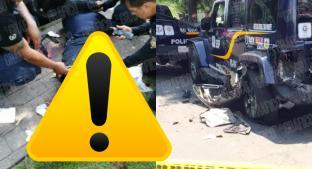 Policía termina con pierna amputada cuando comía entre dos patrullas, en CDMX. Noticias en tiempo real