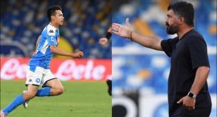 Gennaro Gattuso elogia a Hirving Lozano . Noticias en tiempo real