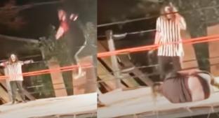 Luchador sufre espeluznante fractura en ambas piernas y todo queda grabado. Noticias en tiempo real