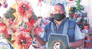 Comerciantes del Bazar Navideño en Edomex esperan que pandemia no mate espíritu navideño . Noticias en tiempo real