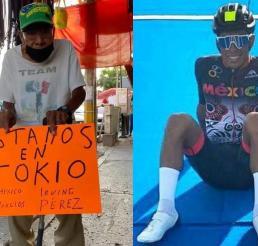 Abuelito de triatleta que está en Tokio lo apoya desde su puesto ambulante y se viraliza