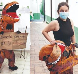 Josefina Valadez, la médico detrás de la exitosa botarga de VacunoRex nos confiesa todo