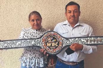 """Talabarteros mexiquenses crean """"Cinturón Mestizo"""", para próximo duelo de """"El Canelo"""""""